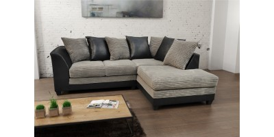 Zara Corner Sofa RHC Black and Gray