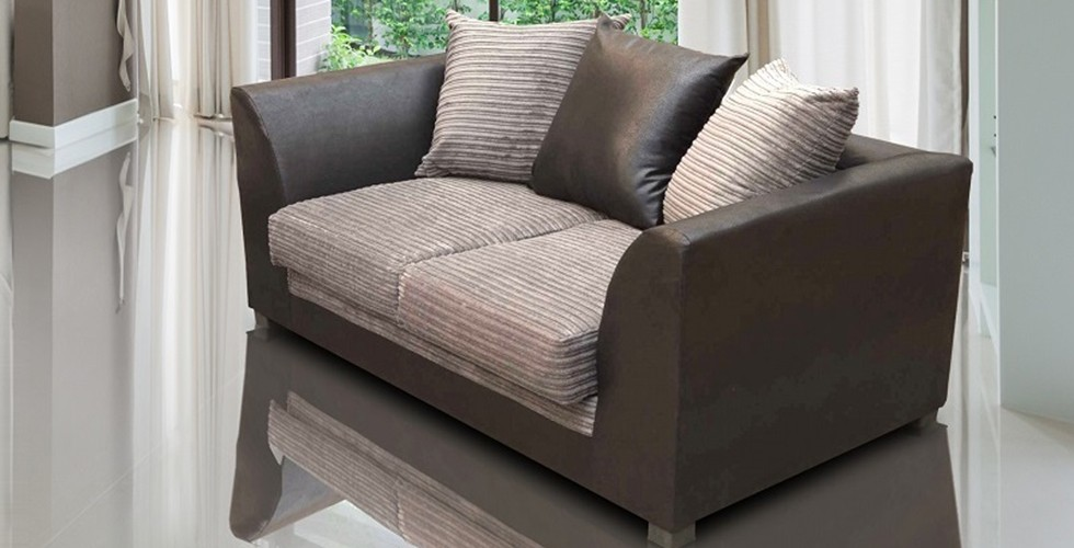 Zara 2 Seater Sofa Brown