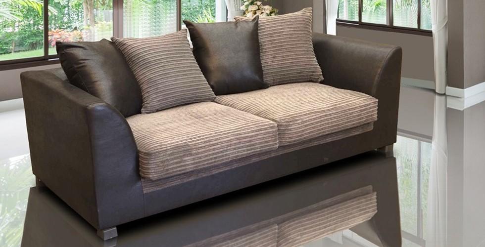 Zara 3 Seater Sofa Brown