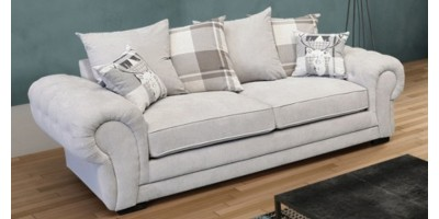 Ashby 3 Seater Silver
