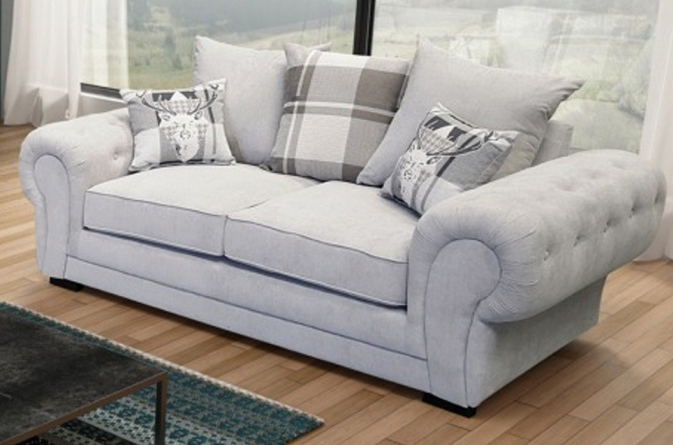 Ashby 2 Seater Silver