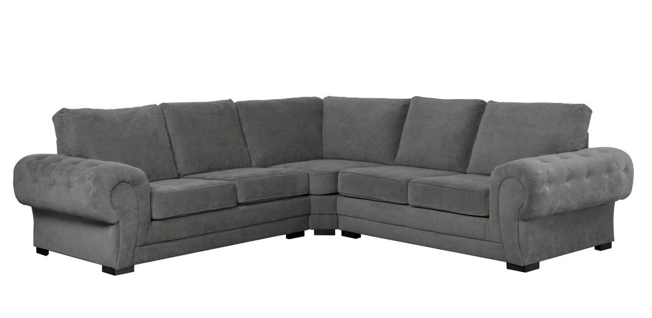 Windsor Large Corner Sofa Graphite Formal Back