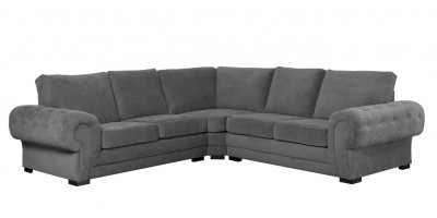 Ashby Large Corner Sofa Graphite Formal Back