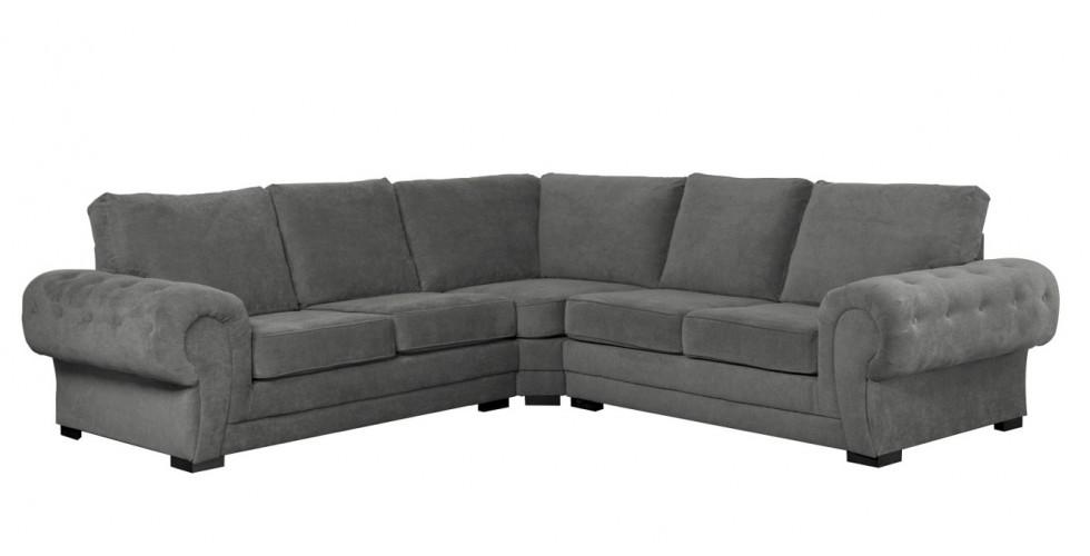 Ashby Large Corner Sofa Graphite Formal Back