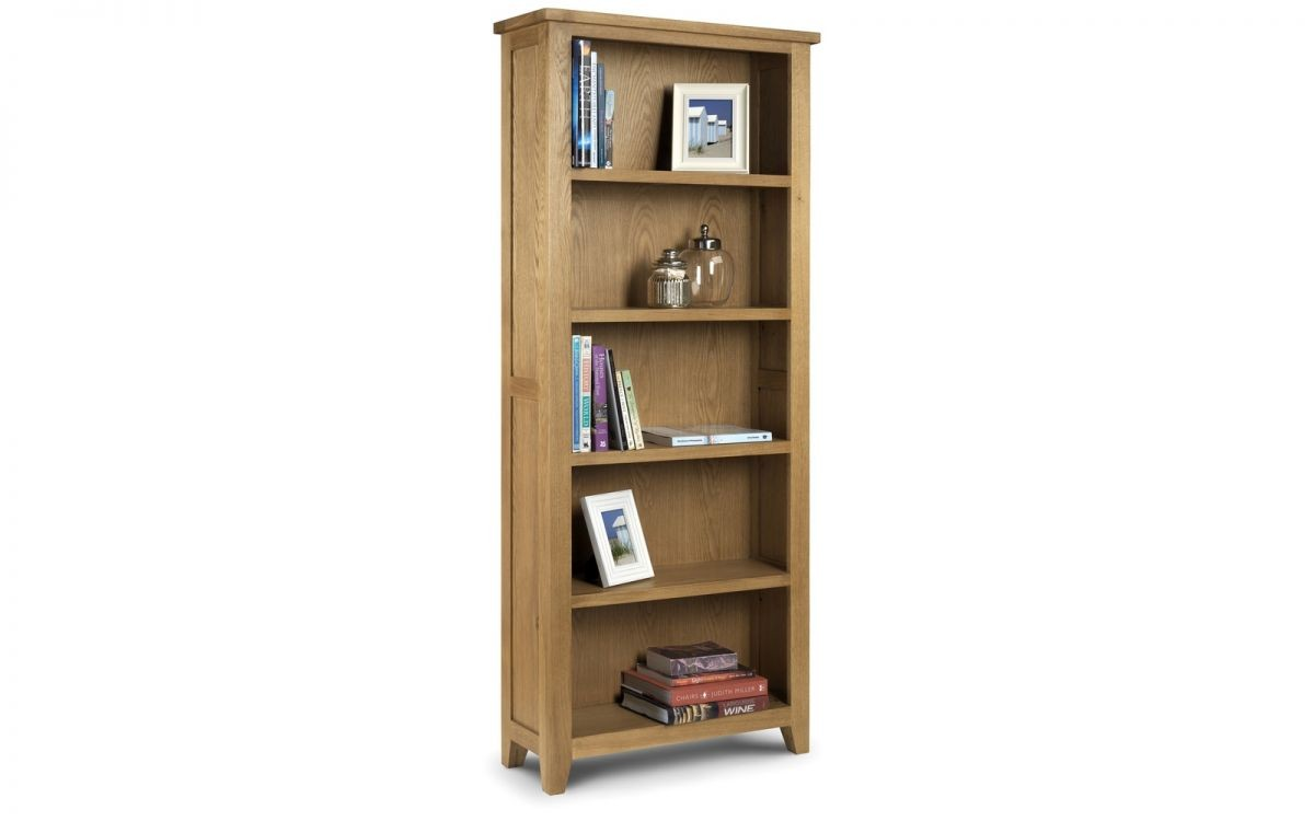Astoria Oak Tall Bookcase Assembled