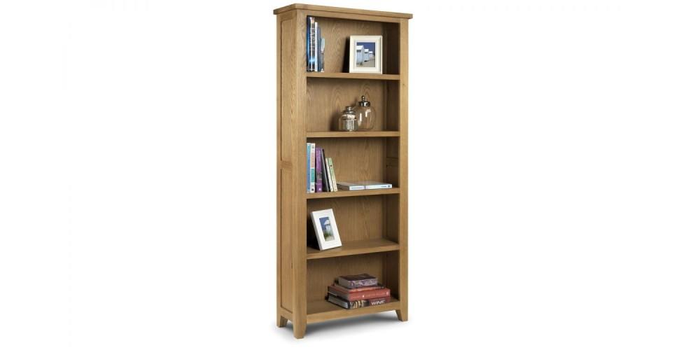 Astoria Oak Tall Bookcase Assembled
