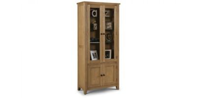 Astoria Glazed Oak Display Cabinet Assembled