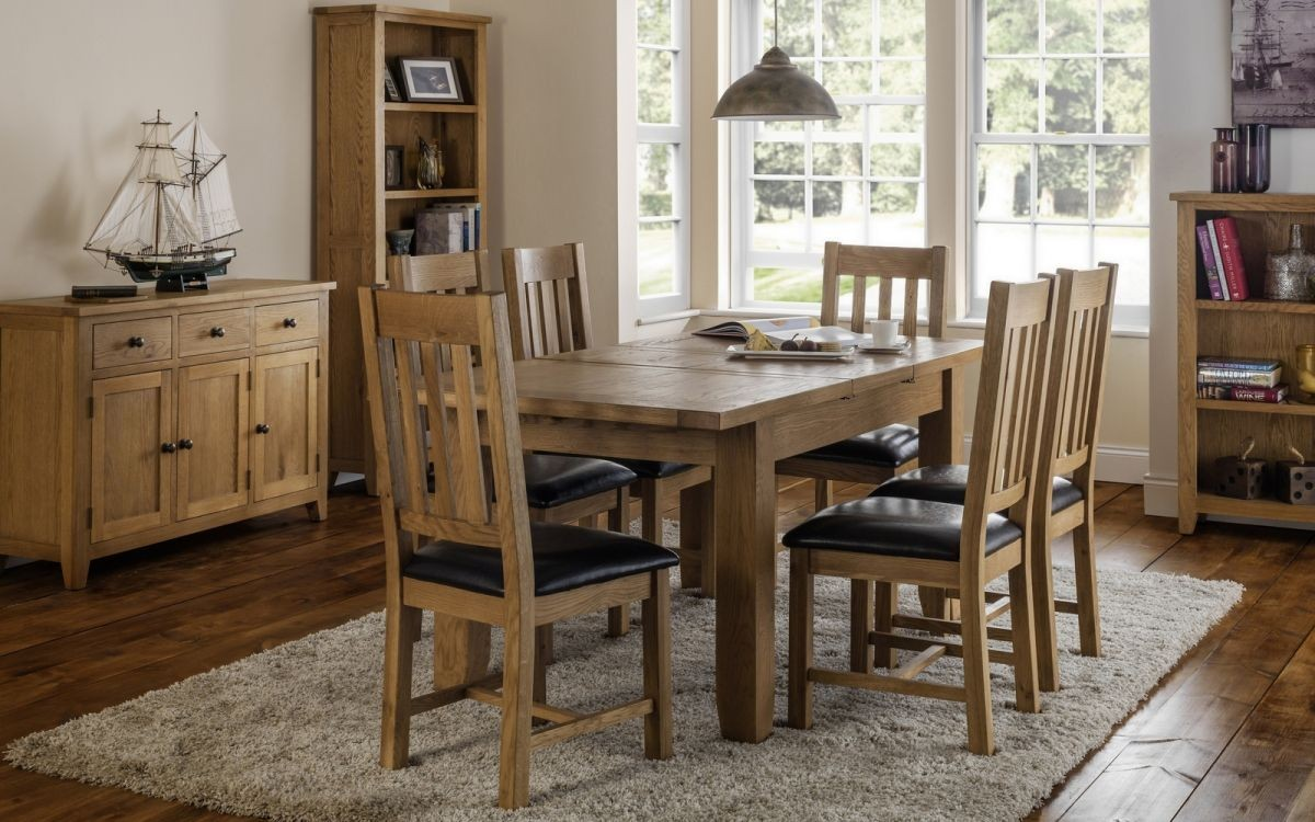 Astoria Extending Oak Dining Table and 4 Chair Set
