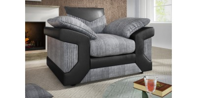 Balmoral Armchair Black-Grey
