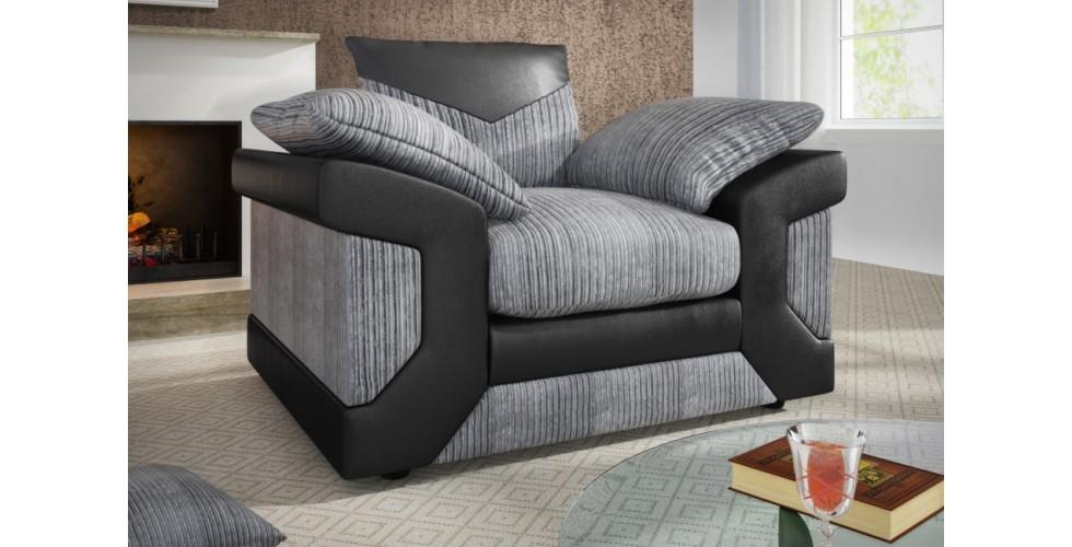 Balmoral Armchair Black-Grey