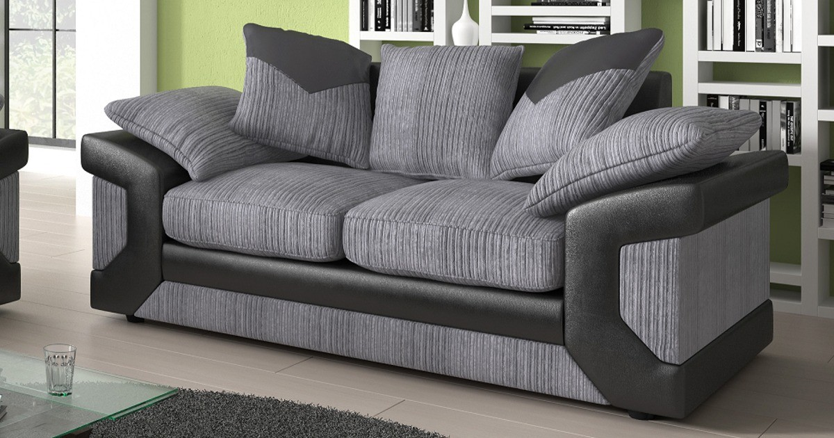 Balmoral 2 Seater Black-Grey