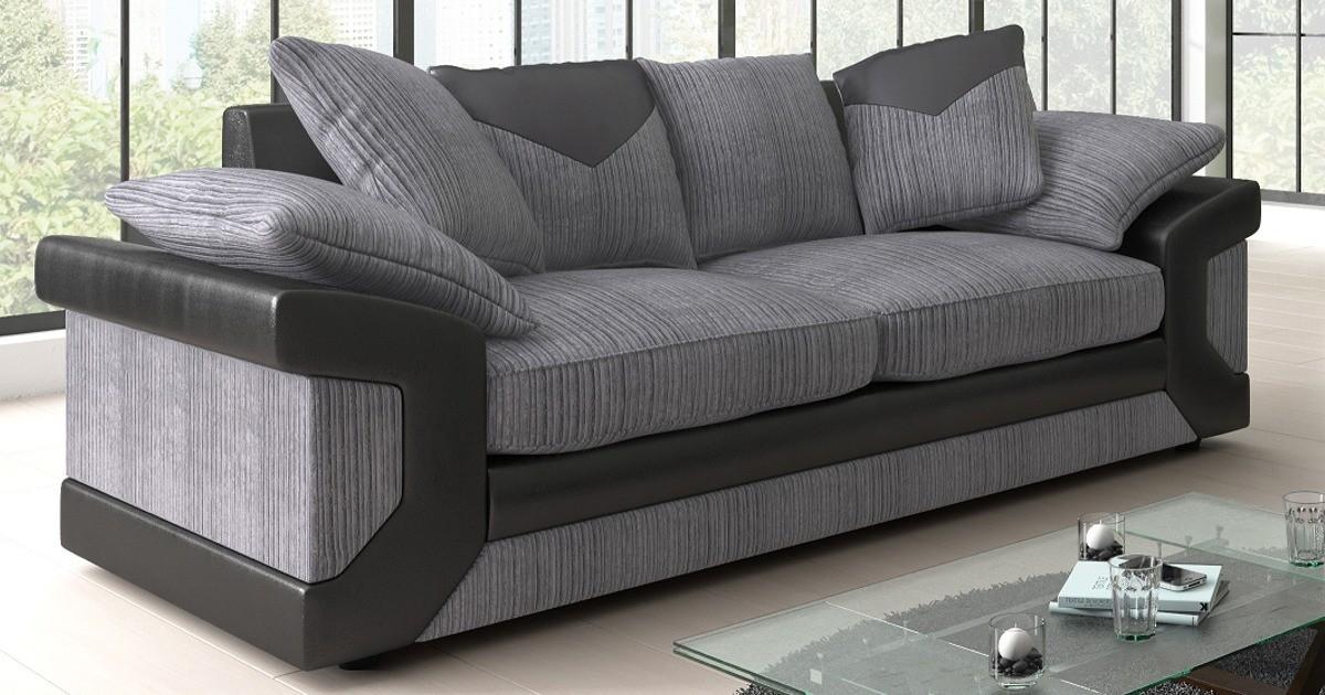 Balmoral 3 Seater Black-Grey
