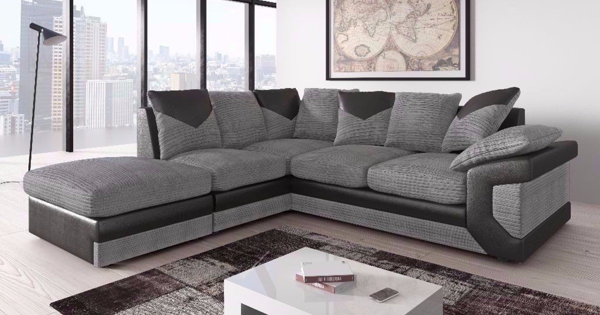 Balmoral Corner LHC Black-Grey Sofa