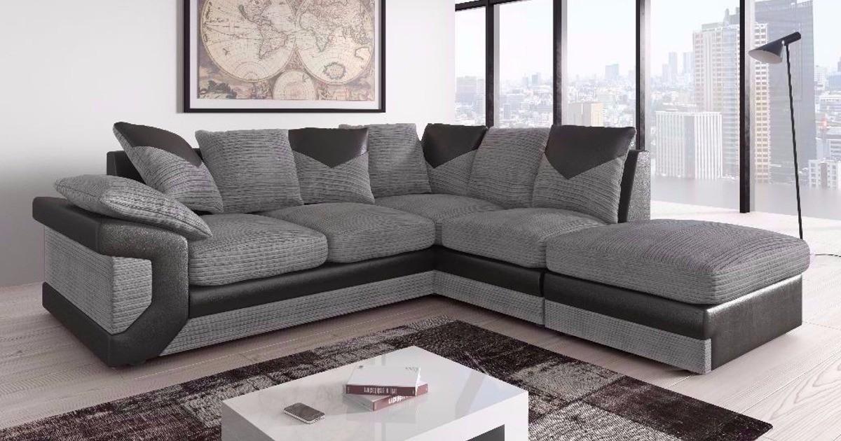 Balmoral Corner RHC Black-Grey Sofa