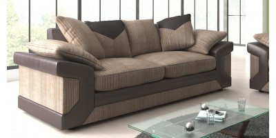 Balmoral 3 Seater Brown-Beige Sofa