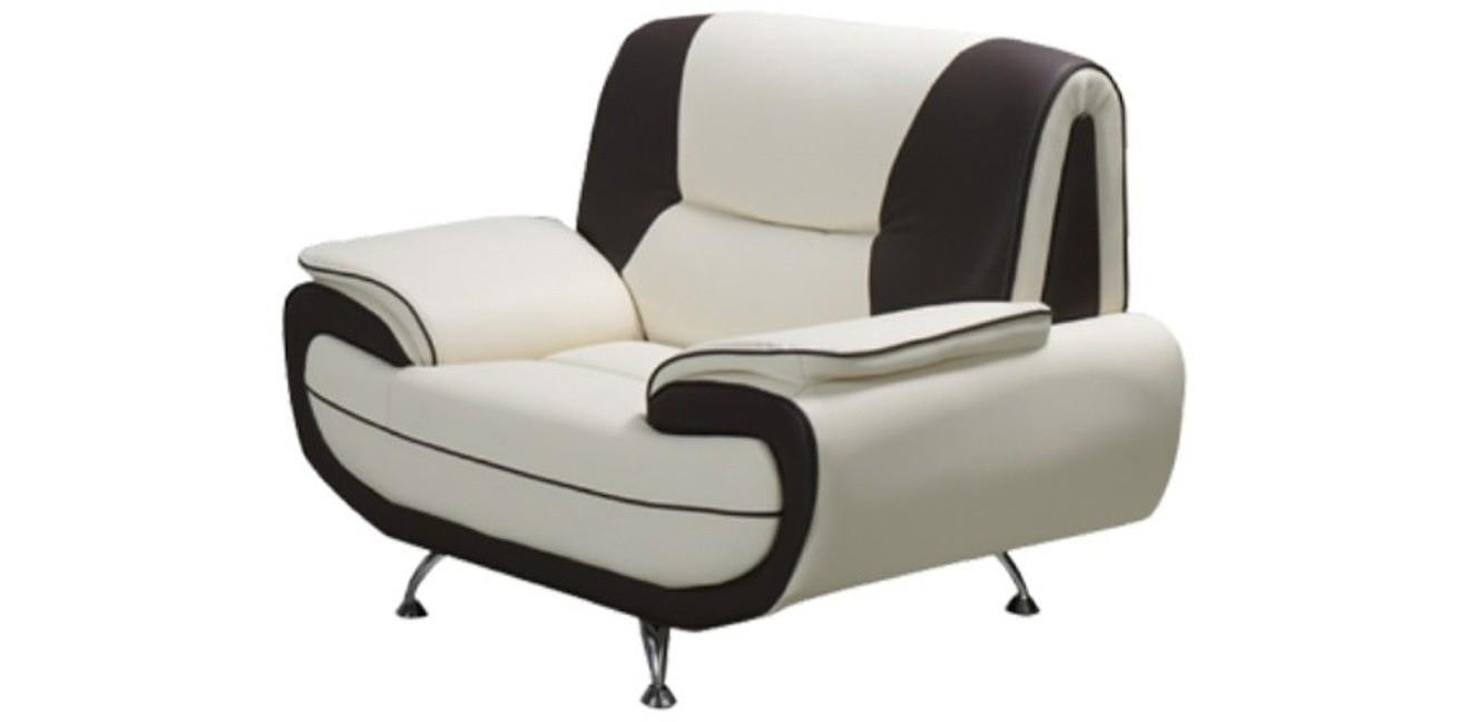 Bari 1 Armchair White-Black