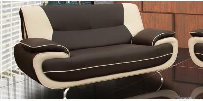 Bari 2 Seater Brown-Cream Sofa