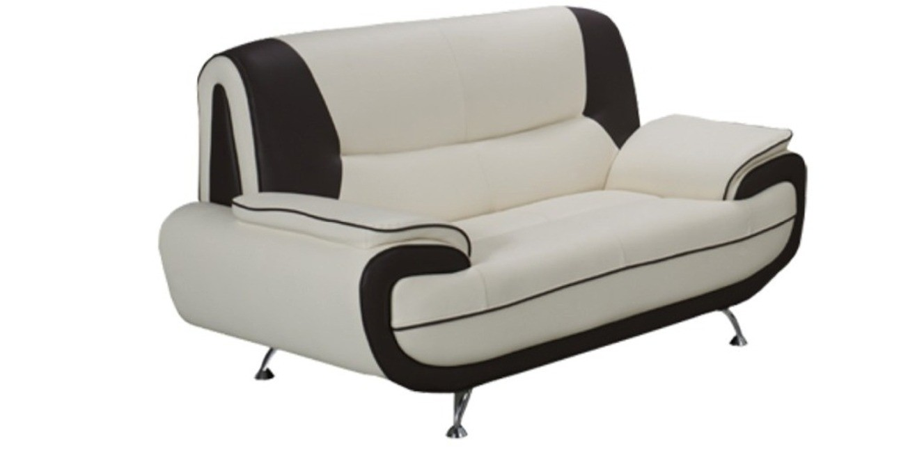 Bari 2 Seater White-Black Sofa