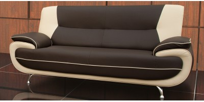 Bari 3 Seater Brown-Cream Sofa