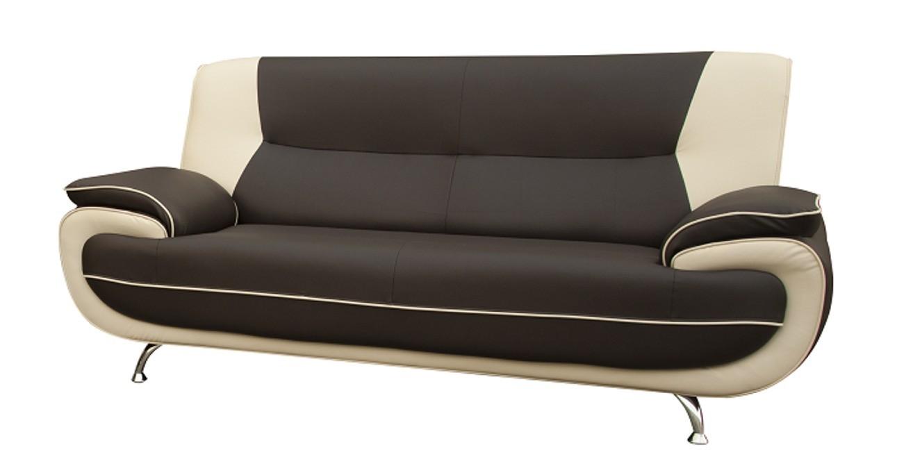 Bari 3 Seater Grey-White Sofa