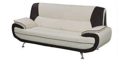 Bari 3 Seater White-Black Sofa