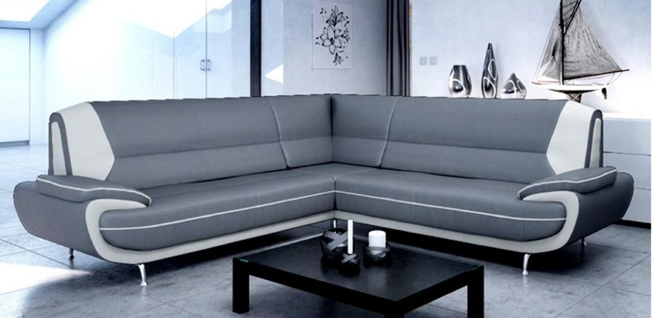 Bari 2 Seater Black-White Sofa