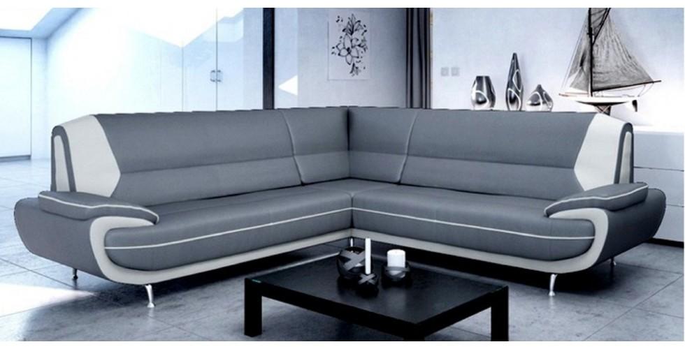 Bari 3+2 Seater Sofa Set Black-White