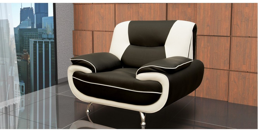 Bari 1 Armchair Black-White