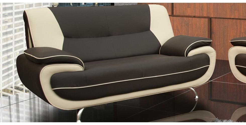 Bari 2 Seater Grey-White Sofa