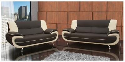 Bari 3+2 Seater Sofa Set Grey-White