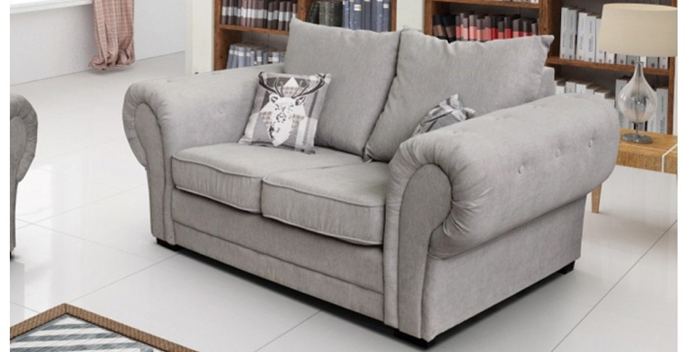 Baron 2 Seater Silver Formal Back Cushions