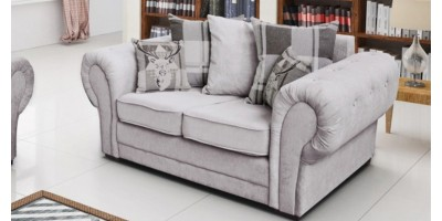 Baron 2 Seater Silver Scatter Back Cushions