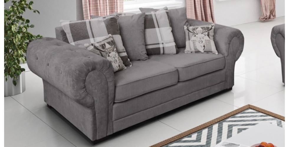 Baron 3 Seater Graphite Scatter Back Cushions