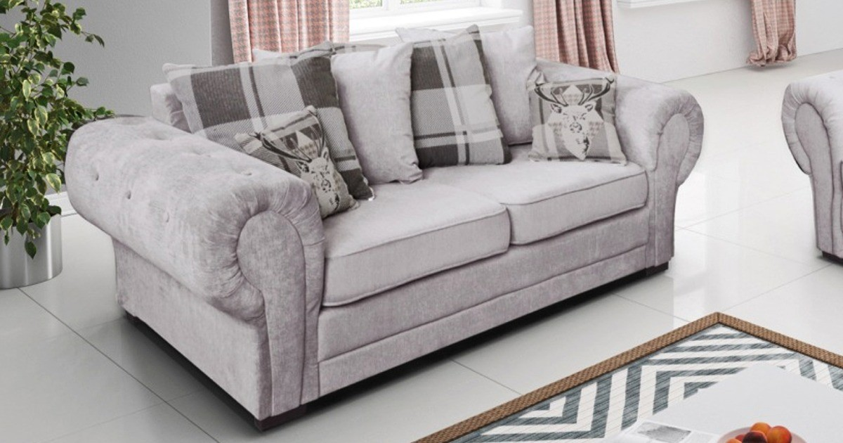 Baron 3 Seater Silver Scatter Back Cushions