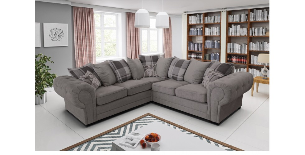 Baron 3 Seater Graphite Formal Back Cushions
