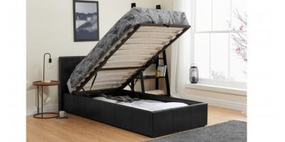 Hilton Storage Bed - Single Black