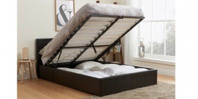 Hilton Storage Bed - Double Brown