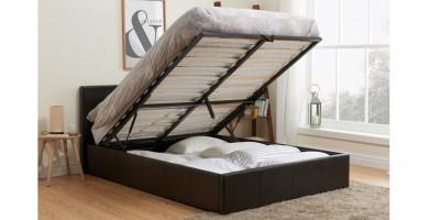 Hilton Storage Bed - King Size Brown