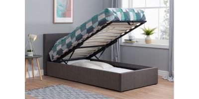 Hilton Single Ottoman Bed Grey 90cm