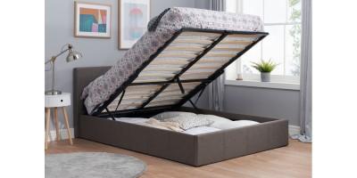 Hilton Small Ottoman Double Bed Grey 120cm