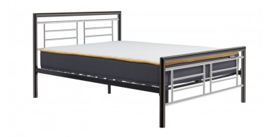 Virginia Chrome and Nickle Double Bed 135cm