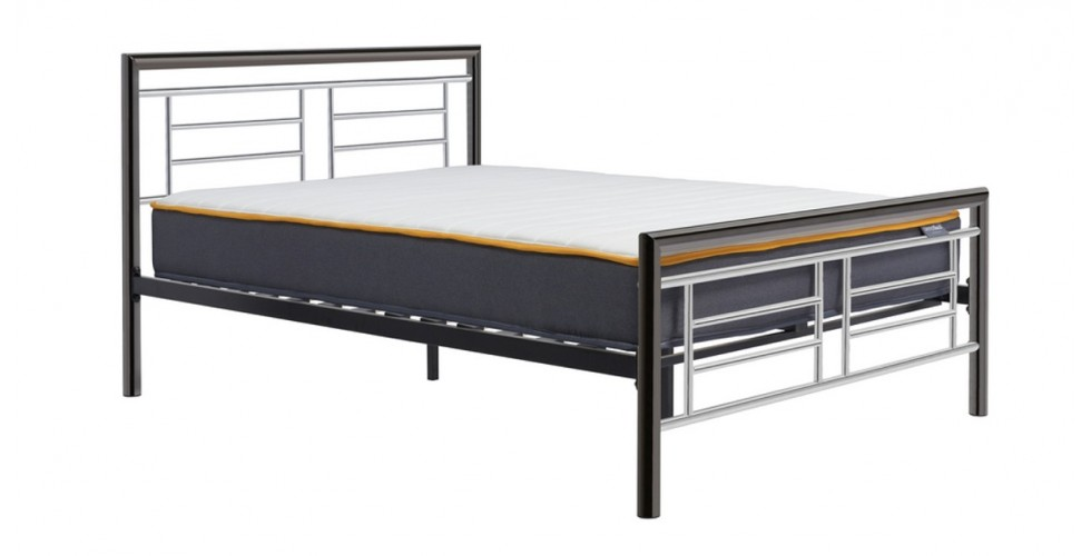 Virginia Chrome and Nickle King Size Bed 150cm