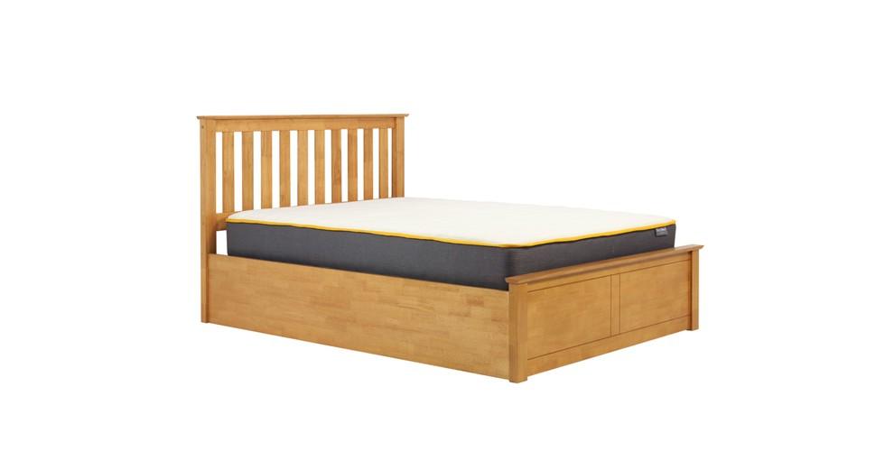 Milano Small Ottoman Double Bed Oak 120cm