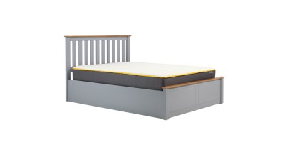 Milano Kingsize Ottoman Double Bed Stone Grey 150cm