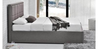 Osaka King Size Bed - Grey 150cm