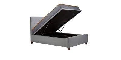 Alexander Ottoman Double Bed Grey 135Cm