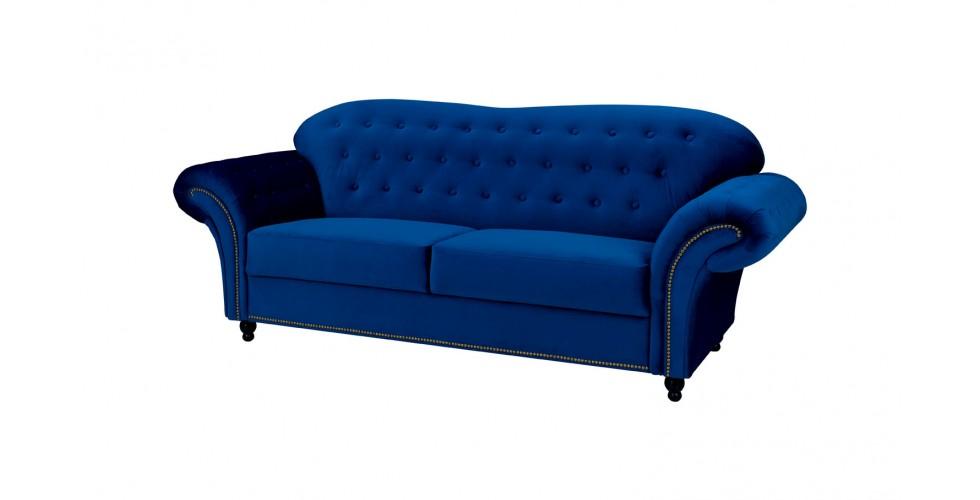Alexandra 3 Seater Sofa Navy Blue