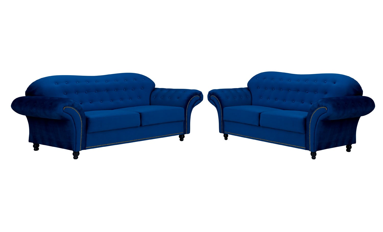 Alexandra 2 Seater Sofa Navy Blue