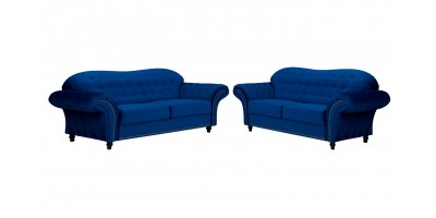 Alexandra 3+2 Seater Sofa Navy Blue