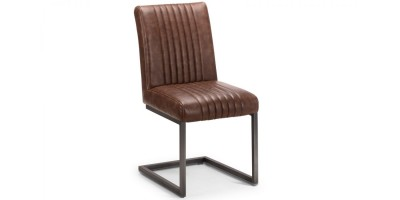 Brooklyn Solid Oak Dining Chair - Antique Brown